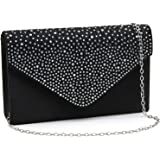 Milisente Evening Bag for Women, Glitter Rhinestone Wedding Evening Purse Crystal Envelope Crossbody Shoulder Clutch Bags