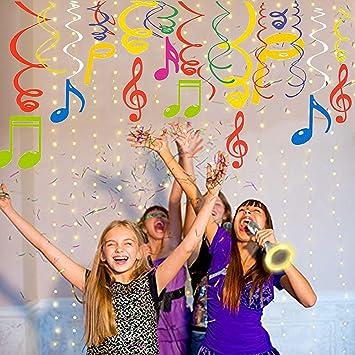 Sayala 30Ct Notas Musicales Decoración para Fiestas - Music Party Thame - Notas Musicales Coloridas Giras para la Fiesta de conciertos Escuela ...
