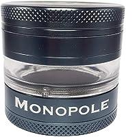 Monopole Grinder Weed mit Schauglas ø62mm aus Alu - 2 und 4-Teilig verwendbar - ANTHRAZIT