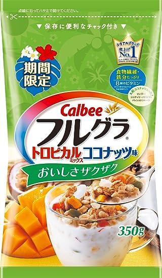Calbee completa mezcla tropical sabor de coco 350g Gras