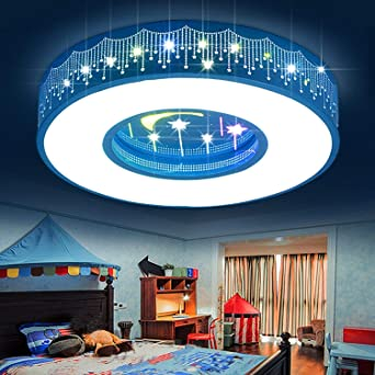 Chambre D'enfant Round Lampe Fille Star Led Nk0OXwZ8Pn