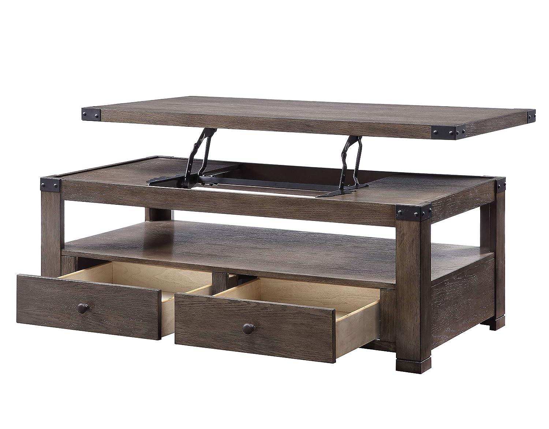 Amazon.com: ACME Furniture 87100 Melville Coffee Table, Gray ...