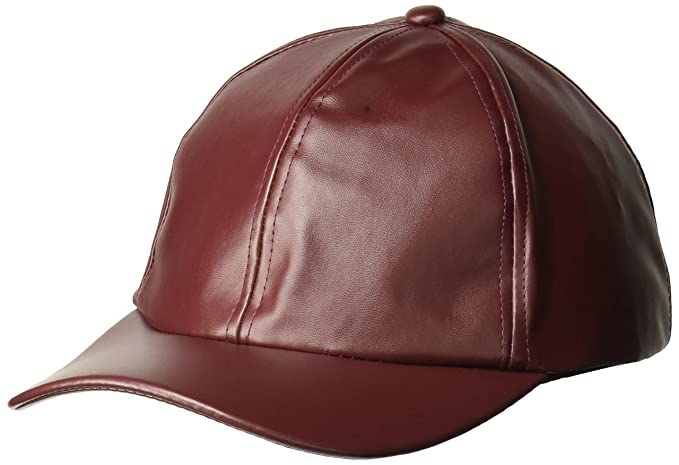D Y Women s Solid Faux Leather Baseball Cap f025ee06bcc