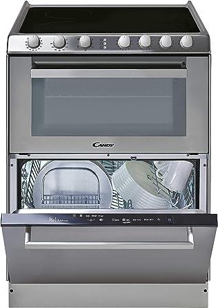 Candy TRIO 9503/1 X/U - Vitrocerámica, lavavajillas y horno en 60cm, independiente, mandos mecánicos, horno eléctrico multifunción 41L, lavavajilla 6 servicios, inox: Amazon.es: Grandes electrodomésticos