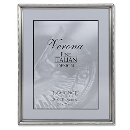 Amazon.com - Lawrence Frames Antique Pewter 8x10 Picture Frame ...