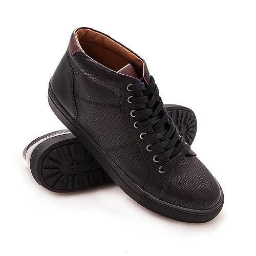 ef5e9bca007 Zerimar Botín de Piel para Hombre Zapato Elegante para Hombre Color Negro  Talla 42  Amazon.es  Zapatos y complementos