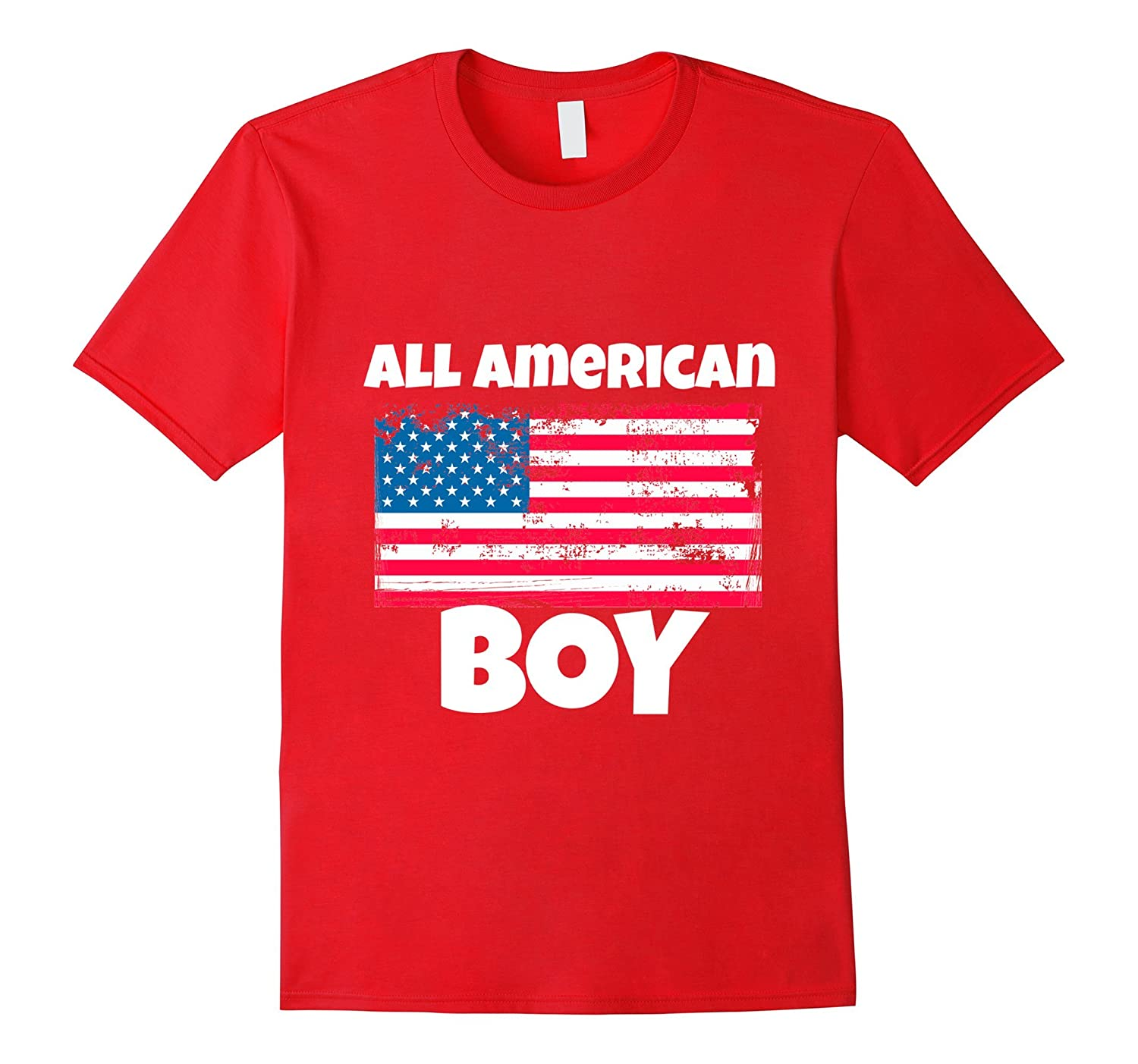 All American Boy USA Flag Distressed 4th of July T Shirt-PL
