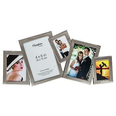 Hampton Frames ACC3695A Accent 5 Multi Aperture Photo Frame Silver ...