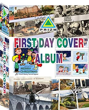Prizm First Day Covers Album for 200 FDC's for Fdc's Issued During Year 2000 to 2008 Size 4.5 x 8 Inches Fdc's Thailand Acid Free Transparent…