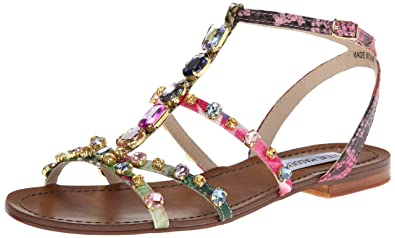 378bba430219e Steve Madden Women's B Jeweled Dress Sandal,Bright Multi,6 ...