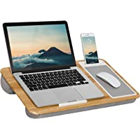 LapGear Home Office Lap Desk with Device Ledge, Mouse Pad, and Phone Holder - Oak Woodgrain - Fits Up to 15.6 Inch…