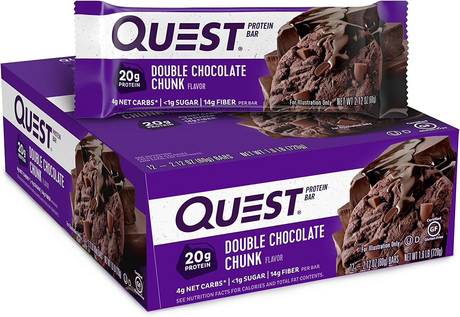Quest Nutrition High Protein Chocolate, 12 Count (Pack of 1)