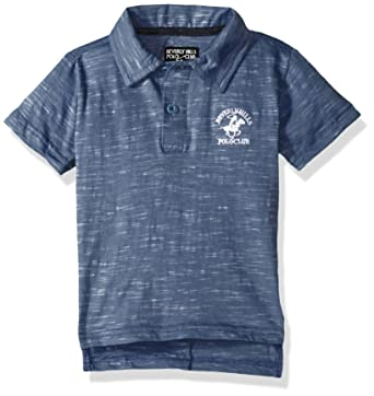 958a61c4f41f Beverly Hills Polo Club Boys' Toddler Short Sleeve Polo, Light Navy slub,  ...