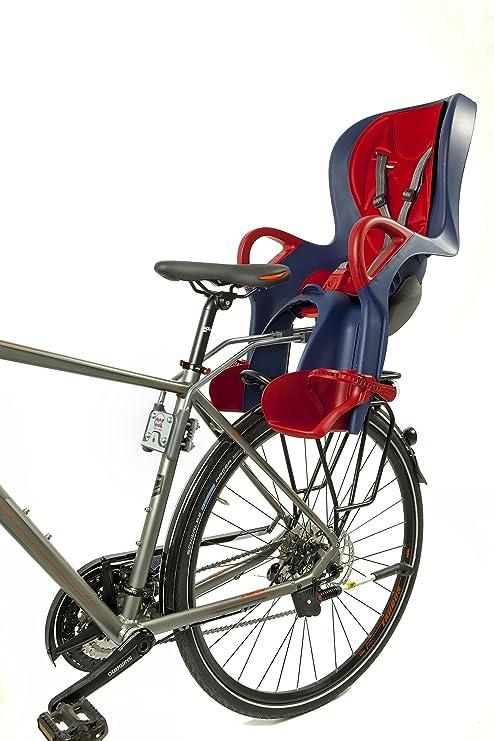 Ok Baby Niños 10 + Rueda Trasera de Bicicleta Asiento, Infantil, 10+, Azul y Rojo: Amazon.es: Deportes y aire libre