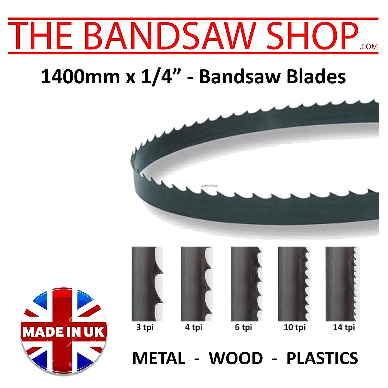 Wood Cutting Bandsaw Blades 1/4' (6mm) Wide (1400 mm x 1/4 (18 Tpi))