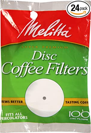 Melitta 3.5 Inch White Disc Coffee Filters
