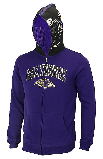 Amazon.com   Outerstuff NFL Big Boys Youth (8-18) Full Zip Helmet ... 9af811a5e
