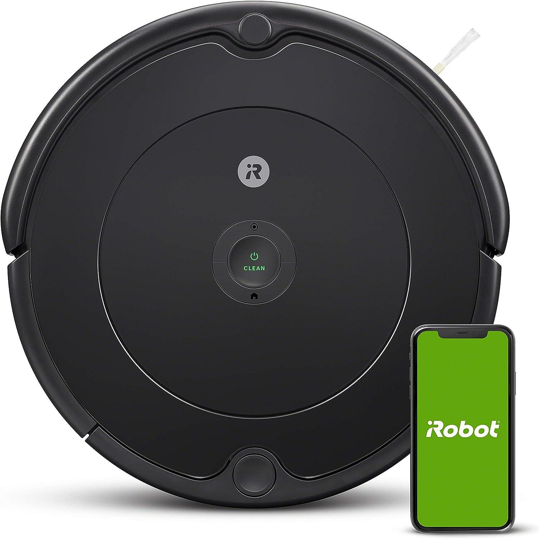 iRobot Roomba 692 Robot Vacuum-Wi-Fi Connectivity, Works with Alexa, Good for Pet Hair, Carpets, Hard Floors, Self-Charging, Charcoal Grey (Renewed)