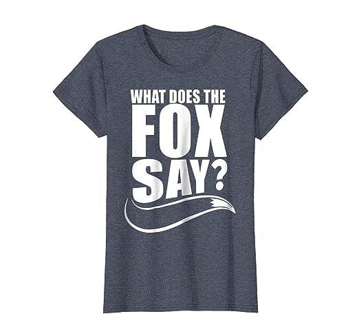 51e2100fd1c4 Amazon.com  What Does The Fox Say T-Shirt  Clothing
