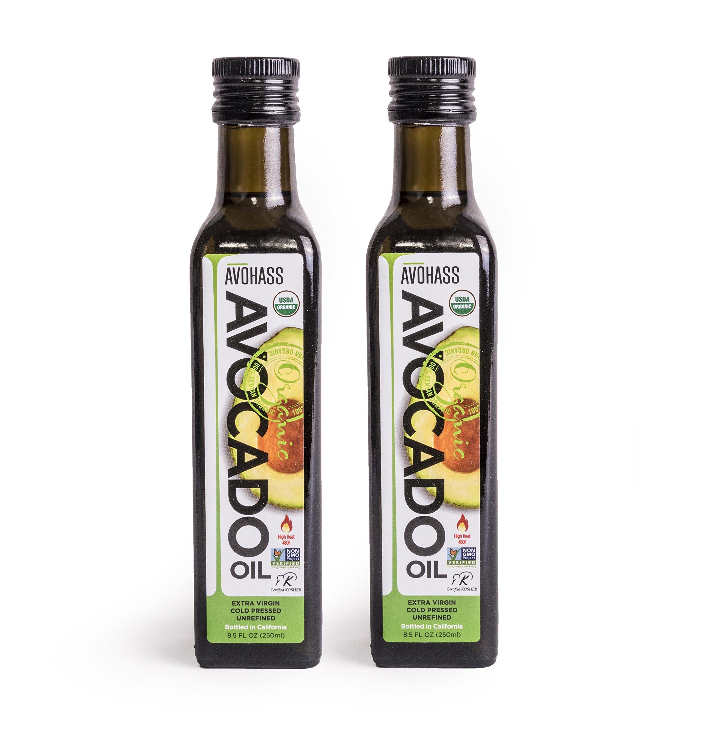 Avohass California Organic Extra Virgin Avocado Oil 2 Bottle Case