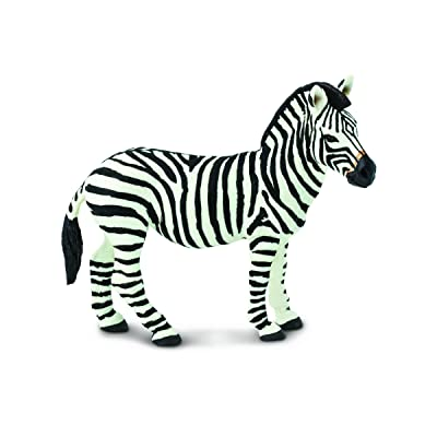 Safari Ltd Wild Safari Wildlife – Zebra – Realistic Hand Painted Toy Figurine Model – Quality Construction from Safe and BPA Free Materials – For Ages 3 and Up: Toys & Games