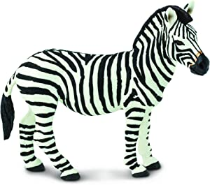 Safari Ltd Wild Safari Wildlife – Zebra – Realistic Hand Painted Toy Figurine Model – Quality Construction from Safe and BPA Free Materials – For Ages 3 and Up