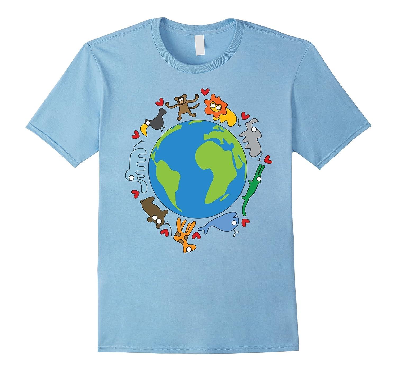 Animals Around The World, Happy Earth Day Funny T-Shirt-Art