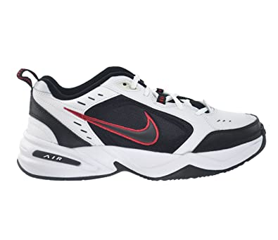 Nike Air Monarch IV Men's Shoes White/Black-Varsity Red 415445-101 (