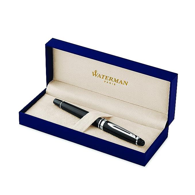 2 opinioni per Waterman Expert penna roller con laccatura nera, finiture cromate, pennino