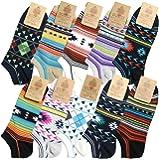 靴下 メンズ くるぶし 10足セット ネイティブ系デザイン 25-27cmサイズ