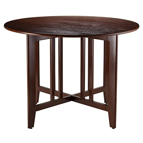 42 inch round dining table vintage winsome wood alamo 94142 double drop leaf round table mission walnut 42 inch dining table amazoncom