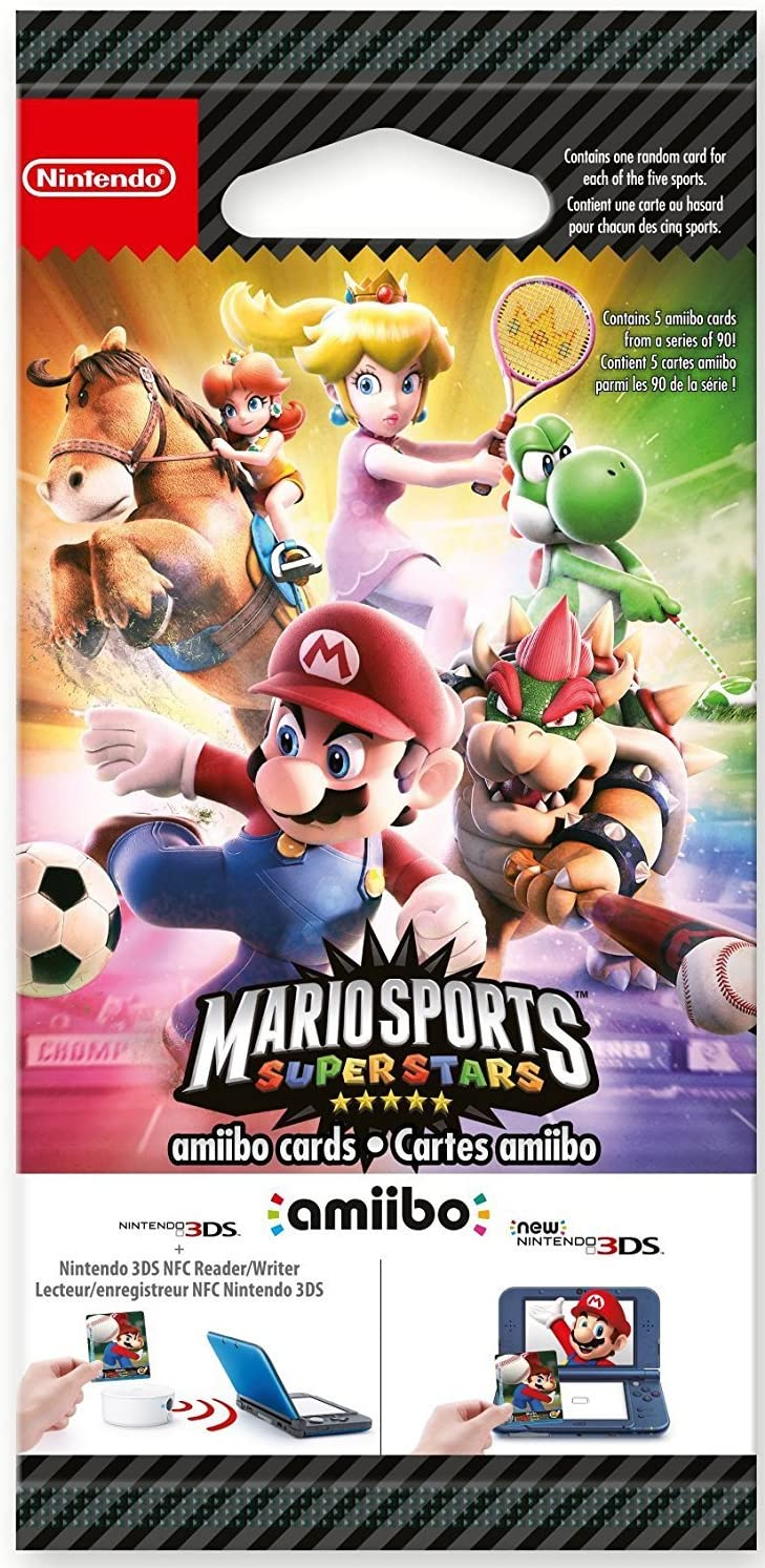 Nintendo - Pack De 5 Tarjetas Amiibo Mario Sports Superstars ...