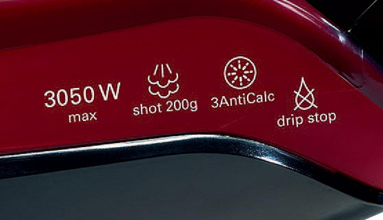 3050 W Black//Red Bosch TDA5070GB Steam Iron