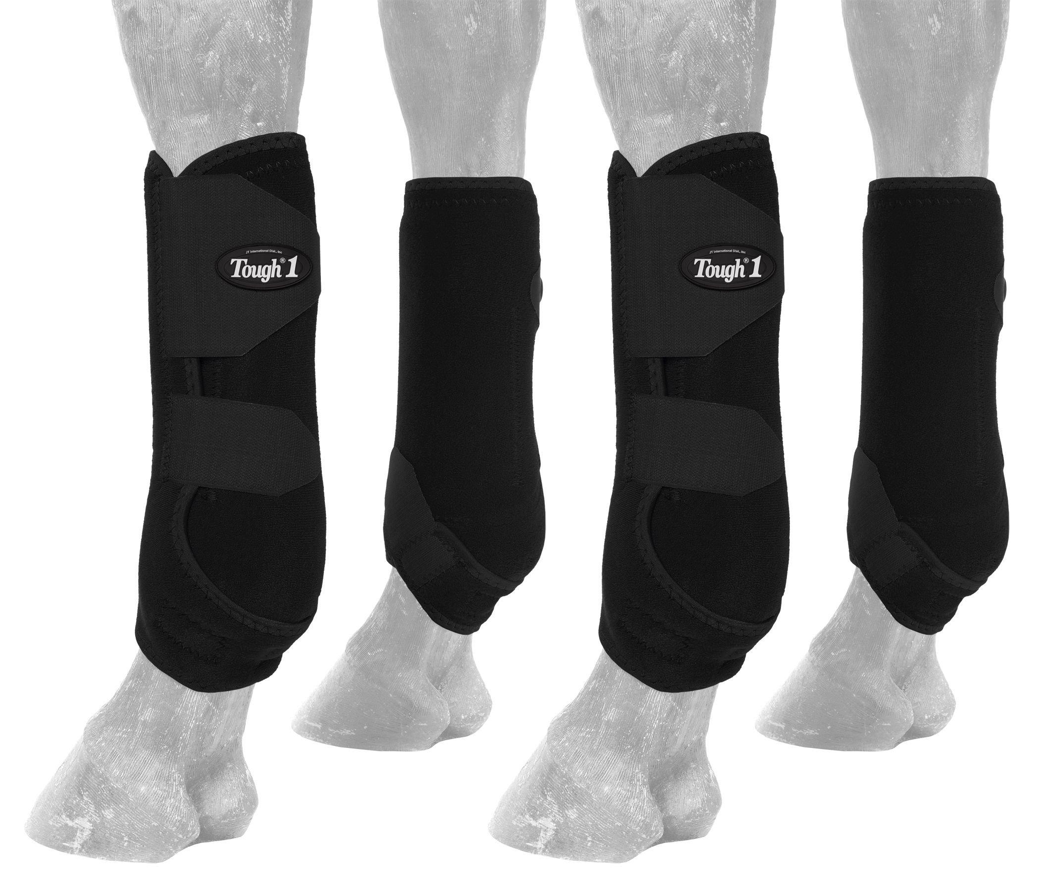 Tough 1 Extreme Vented Sport Boots Set, Black, Large