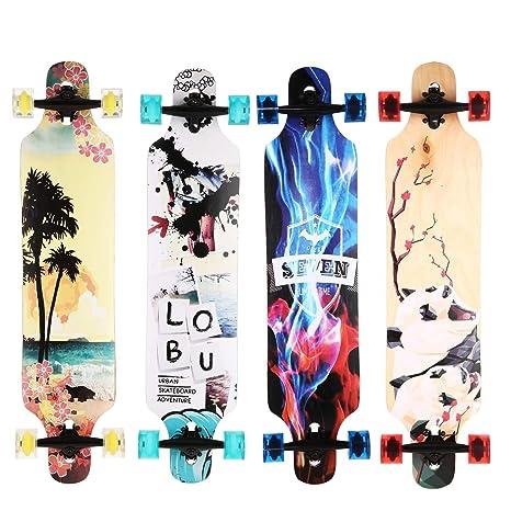 aceshin Longboard désign arte grande Skate jóvenes Unisex monopatín Cruiser para ruta