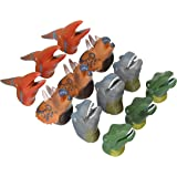 REALISTIC DELUXE TOY DINOSAUR FINGER PUPPETS - One Dozen
