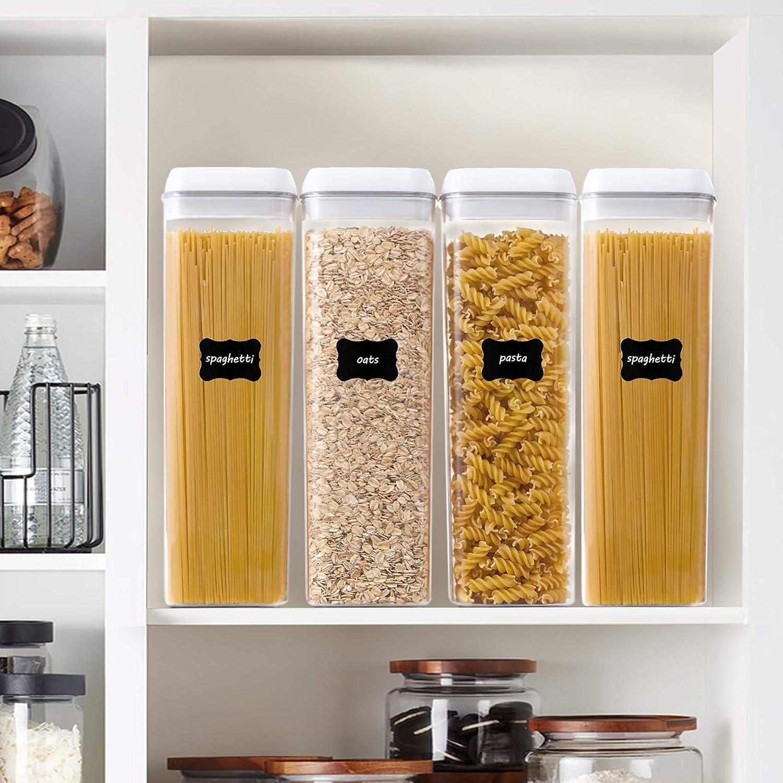 קוספאות אחסון מזון עם מנגנון נעילת אויר של Vtopmart - סט 4 מיכלים 1.9L
