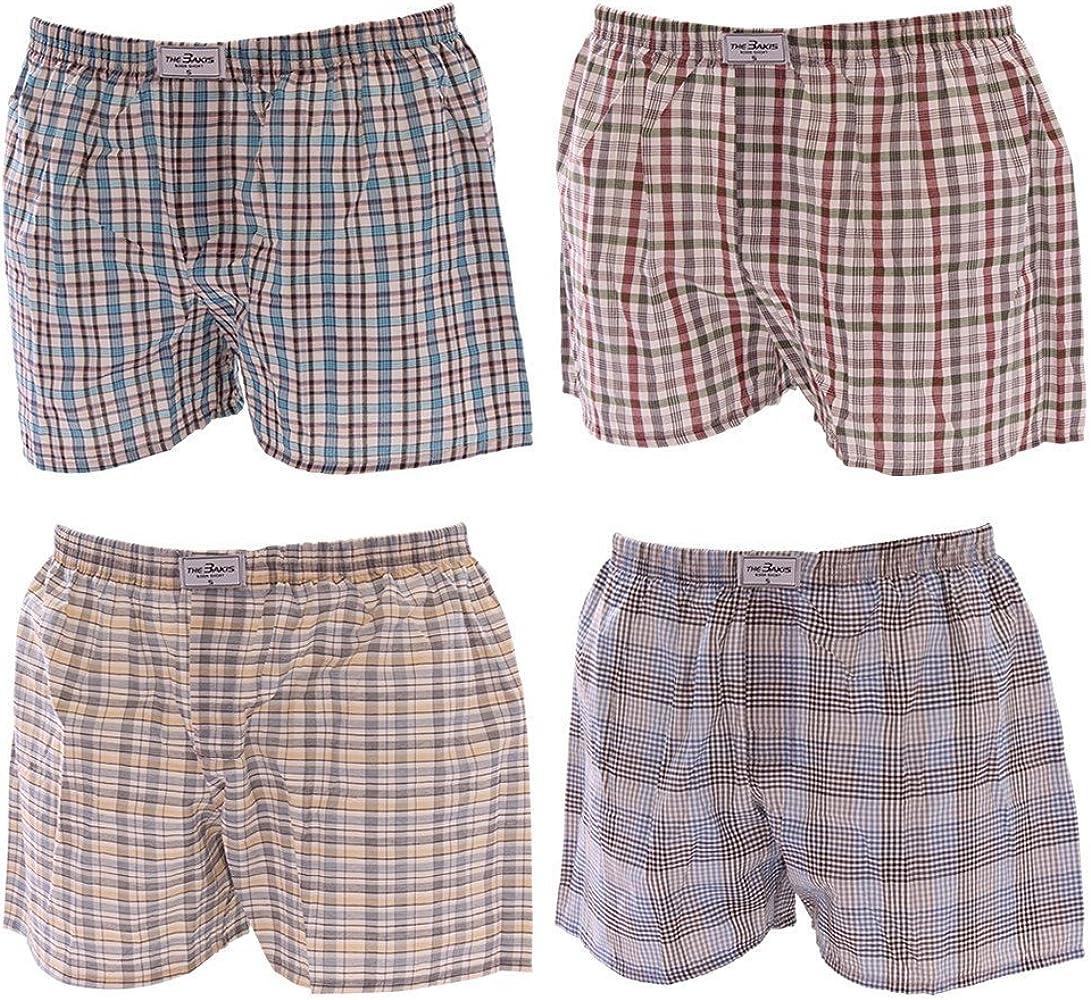 4 Pack tonos calzoncillos bóxer para hombre de cuadros y rayas ...