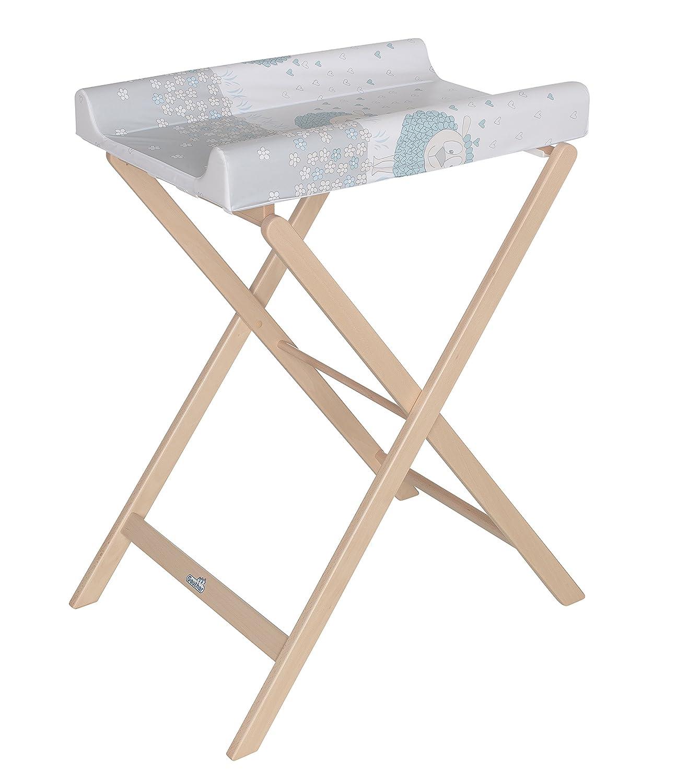 GEUTHER Table à Langer Pliable Trixi Fleur Naturel GEUR3 4817 NA 09