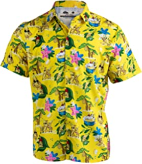 287e1d290 Bananas & Blow | Funny Drug Hawaiian Button Down Polo Golf Party Shirt for  Men