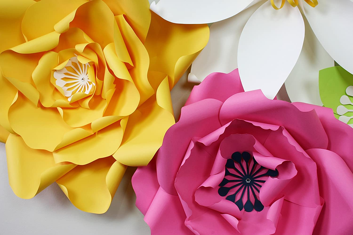Amazon.com: Paper Flower Backdrop / Giant Paper Flowers Wall / Paper ...