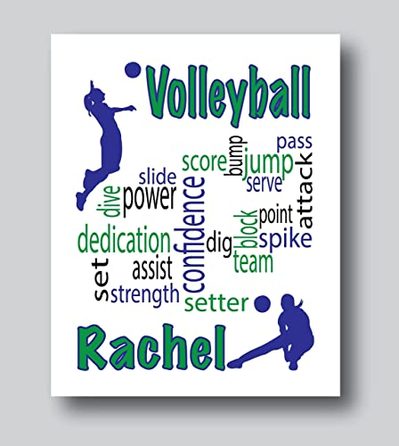 amazon com personalized volleyball gifts for girls volleyball