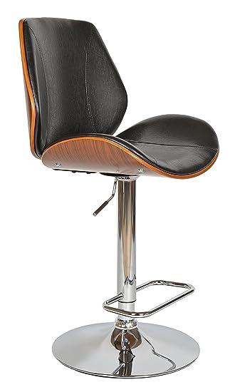 Ts-Ideen 1X Design Barhocker Barstuhl Barsessel Schwarz