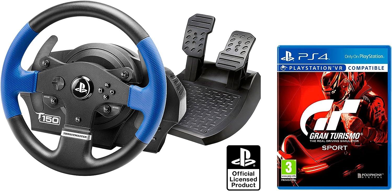 Volante PS4 Sonora bajo Licencia Playstation 4 Thrustmaster T150 RS Force Feedback + Gran Turismo Sport GT Sport: Amazon.es: Informática