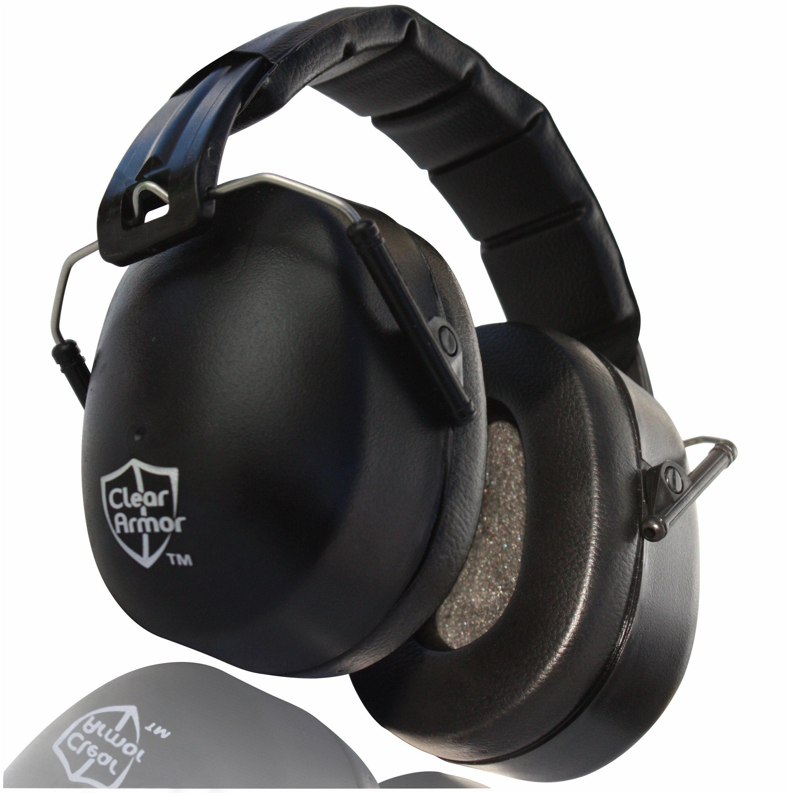 ClearArmor 141001 Shooters Hearing Protection Safety Ear Muffs Folding-Padded Head Band Ear Cups, Black by ClearArmor (Image #2)