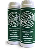 FOOT SENSE All Natural Smelly Foot & Shoe Powder - Foot Odor Eliminator Lasts up to 6 Months. Safely Kills Bacteria. Natural Formula for Smelly Shoes and Stinky feet. (2 Pack)