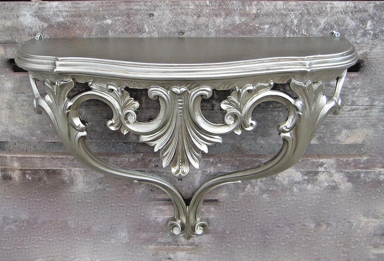 Wandkonsole Antik Wandregal Barock B 57xt 18xh 46cm Spiegelablage