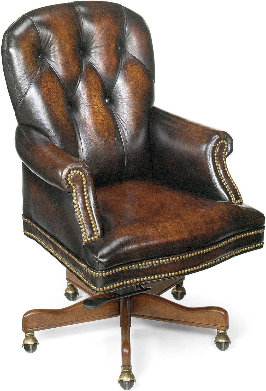 Hooker Furniture Marcus Executive Swivel Tilt Chair, Brown