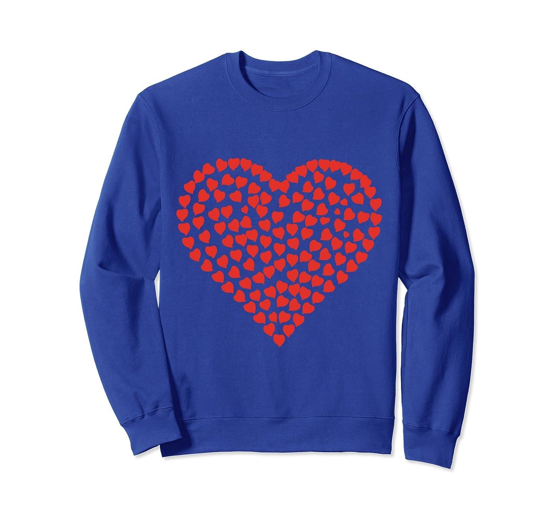 Red Heart Valentine's Day T-Shirt Women Girls-Awarplus