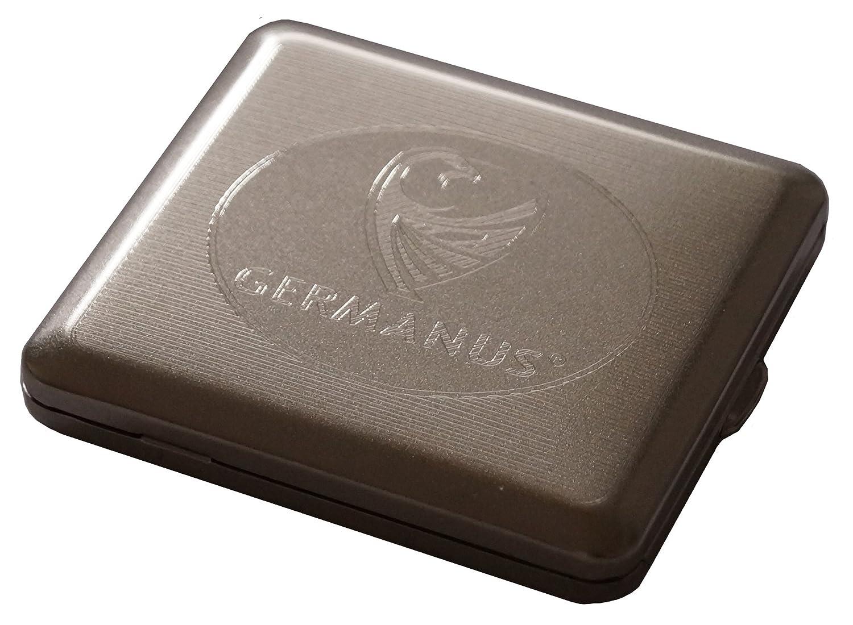 GERMANUS Zigarettenetui, Made in Germany, vernickelt, satiniert matt, neue version